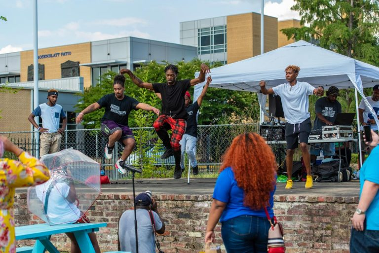 local dance group Jigga Mississippi performs @ Black Joy As Resistance Festival on Farish Street; June 19, 2020