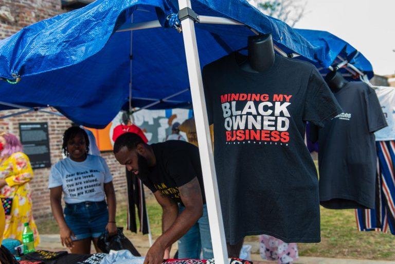 Vendor @ Black Joy As Resistance Festival on Farish Street; June 19, 2020