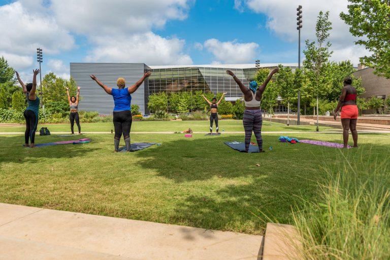 Diamond Rogers & Keyah Williams host yoga & meditation session @ Mississippi Museum of Art BankPlus Green; June 21, 2020