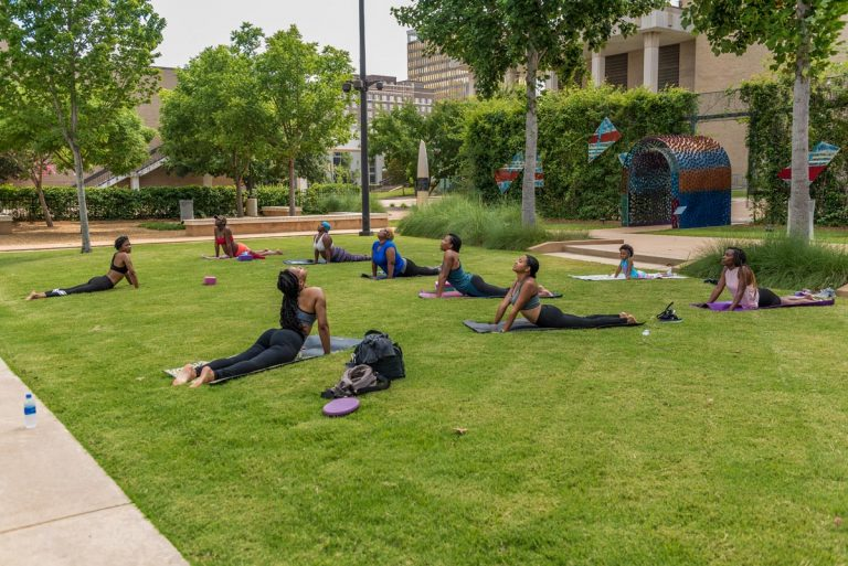 Yoga & meditation session @ Mississippi Museum of Art BankPlus Green; June 21, 2020