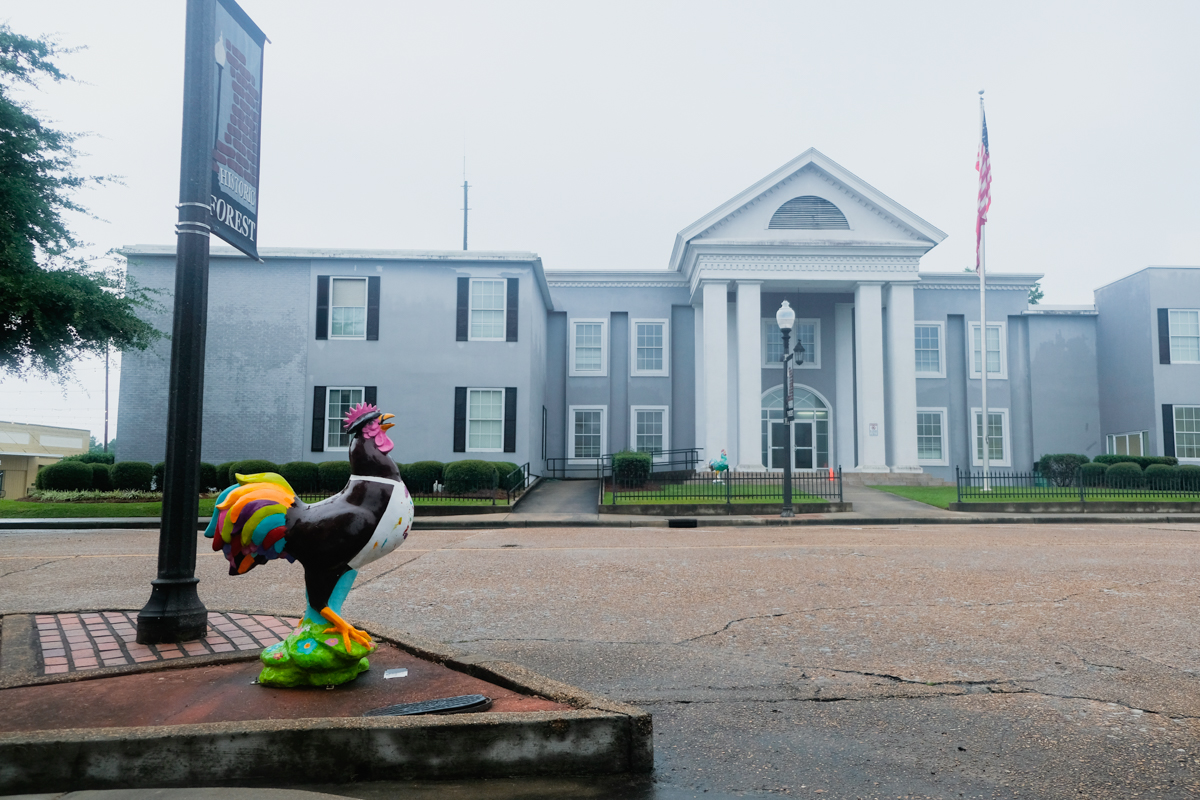 Chicken Statues Forest - Mississippi Free Press