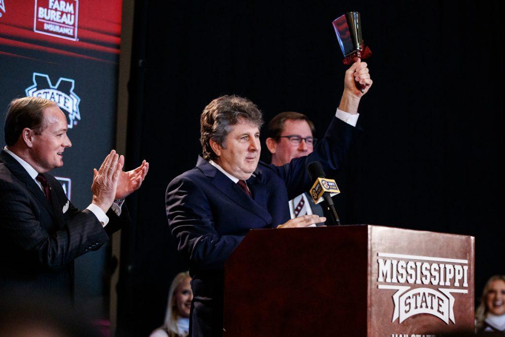 Mississippi State head football coach Mike Leach