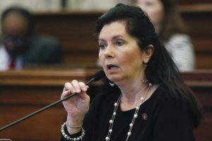 Senator Angela Hill speaks on the Senate floor in 2020