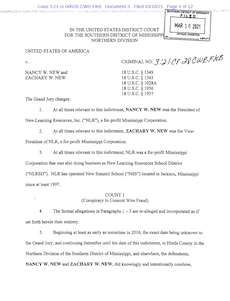 screen shot of first page of New indictment