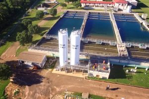 Overhead view of OB Curtis Water Plant