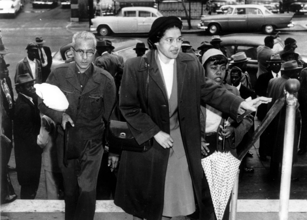 Rosa Parks arriving to court