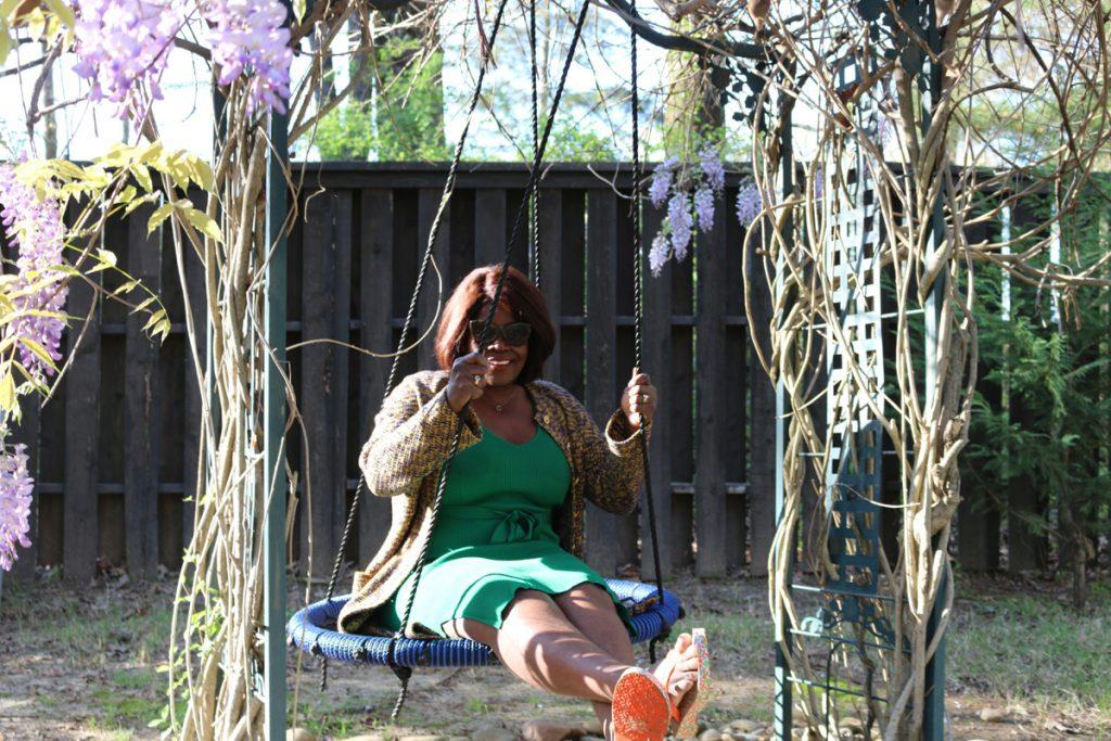 Pamela McKelvy Hamner swinging