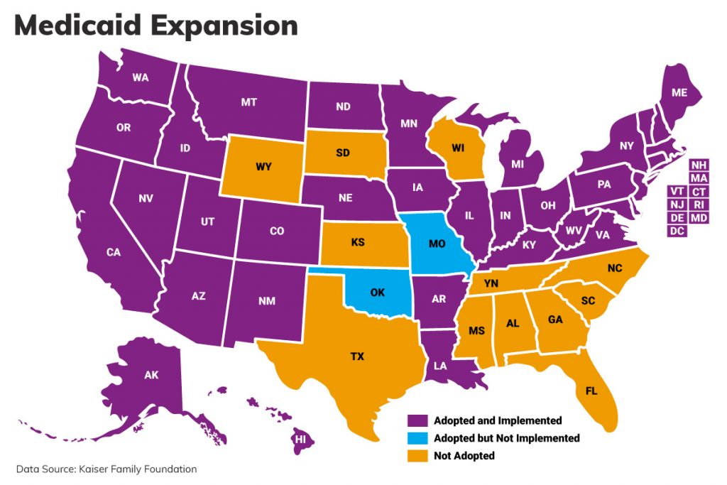 United States Medicaid Expansion Map