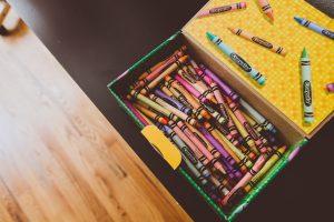 open box of crayola crayons
