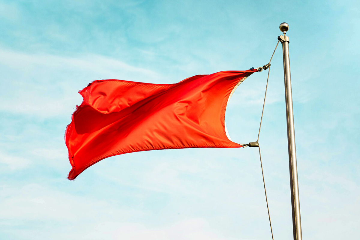 Red Flag on pole