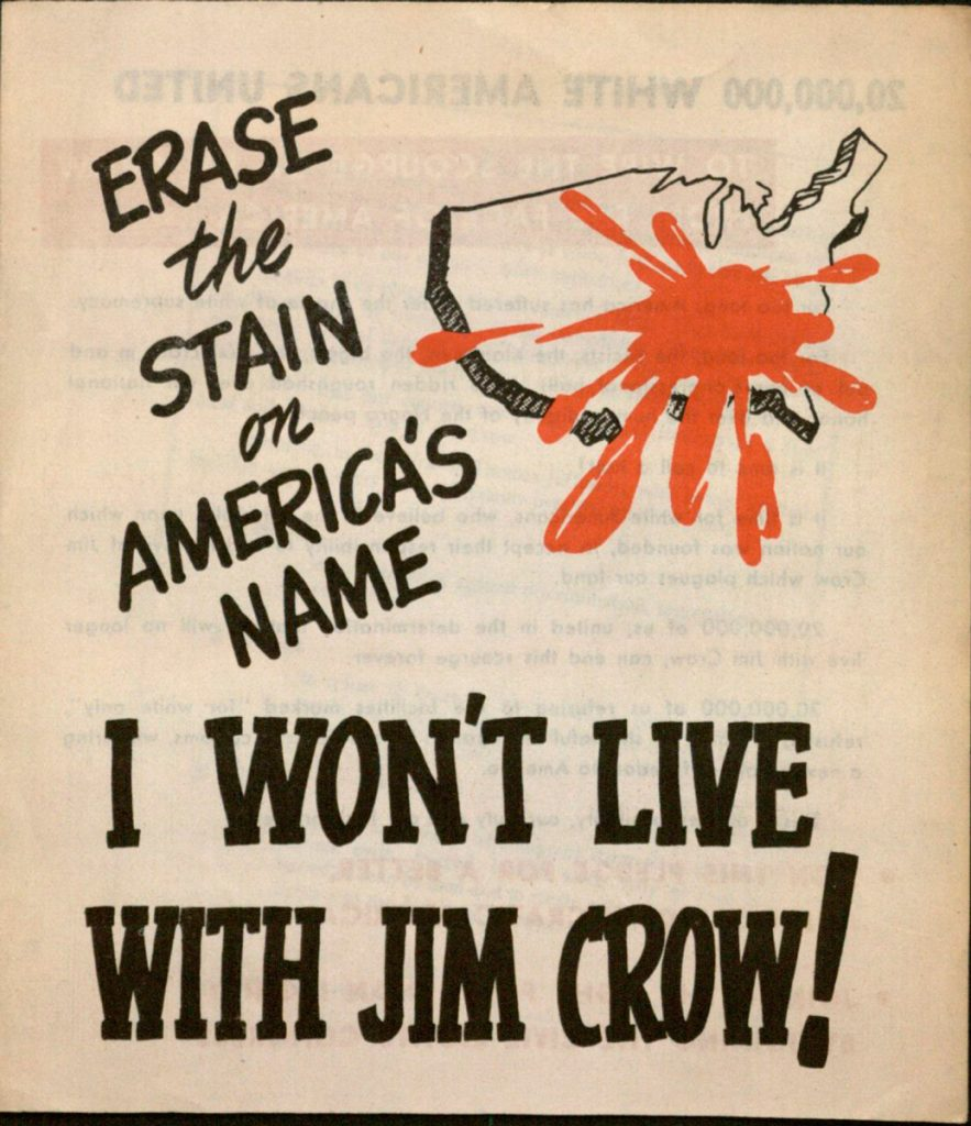 Erase the Stain on America's Name pamphlet