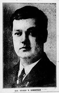 Portrait of Mississippi Revenue Agent Stokes V. Robertson