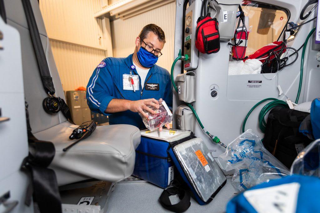 Flight paramedic Brad Harper