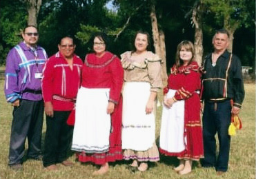 Chickasaw Nation reburial team 2015 at Burney Cemetery