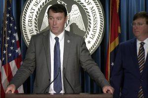 Commissioner Sean Tindell at podium
