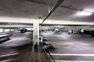 UMMC Garage B is being converted into extra bed space