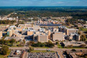 Aerial view of the UMMC Campus.