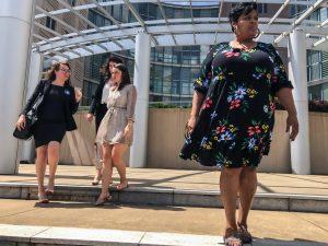 Jackson Women's Health Organization Director Shannon Brewer in floral dress