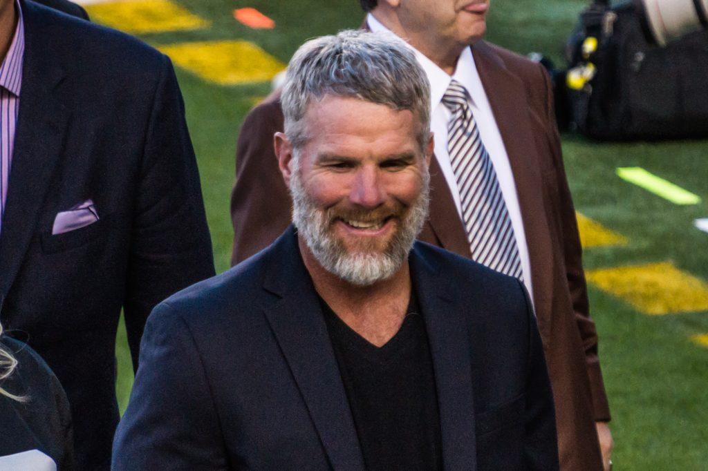 A photo of Brett Favre